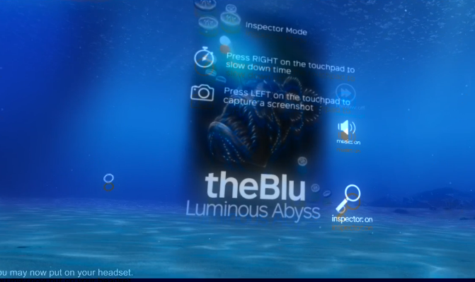 Inside VR view of TheBlu Setup