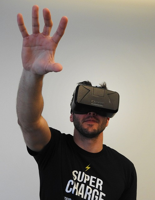 Reaching up in virtual reality