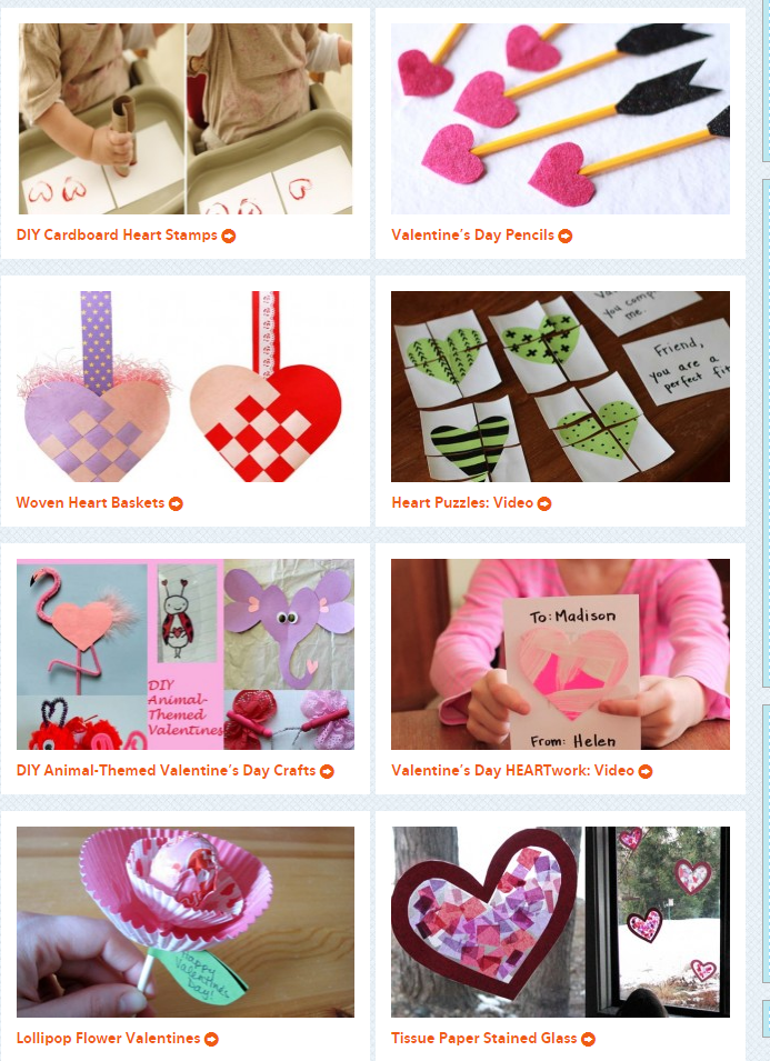 Valentines Day crafts for kids from PBS