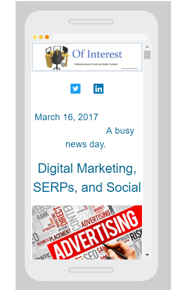ParkerContent News Digital Marketing and #SERP